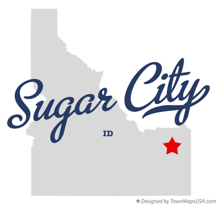 Map of Sugar City Idaho ID