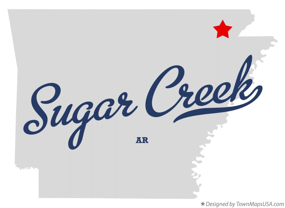 Map of Sugar Creek Arkansas AR