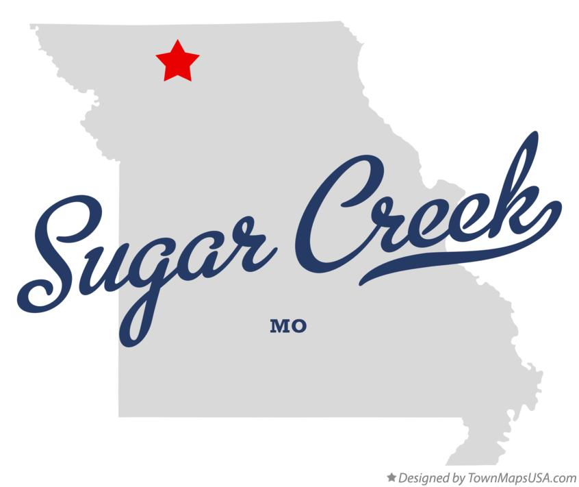 Map of Sugar Creek Missouri MO