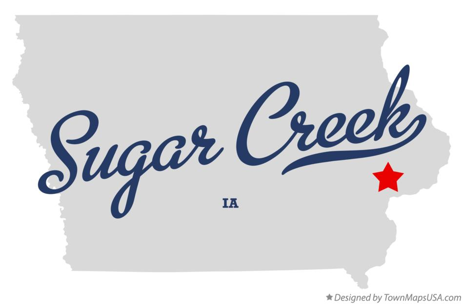 Map of Sugar Creek Iowa IA