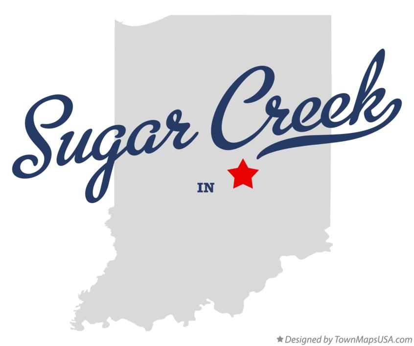 Map of Sugar Creek Indiana IN