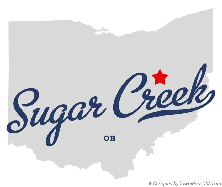 Map of Sugar Creek Ohio OH