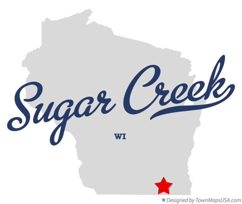 Map of Sugar Creek Wisconsin WI