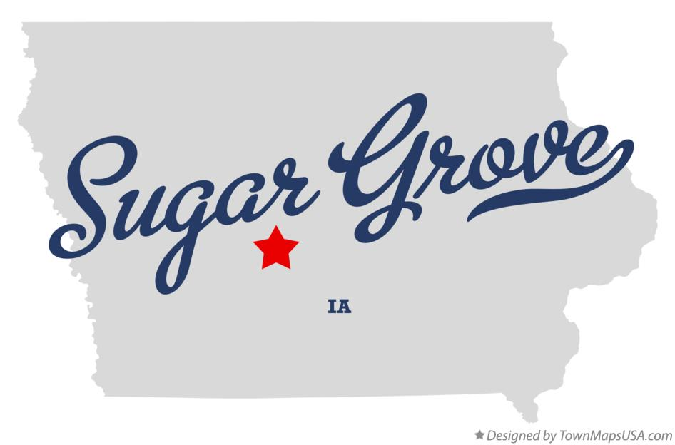 Map of Sugar Grove Iowa IA