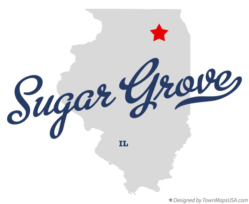 Map of Sugar Grove Illinois IL
