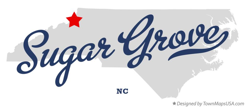 Map of Sugar Grove North Carolina NC