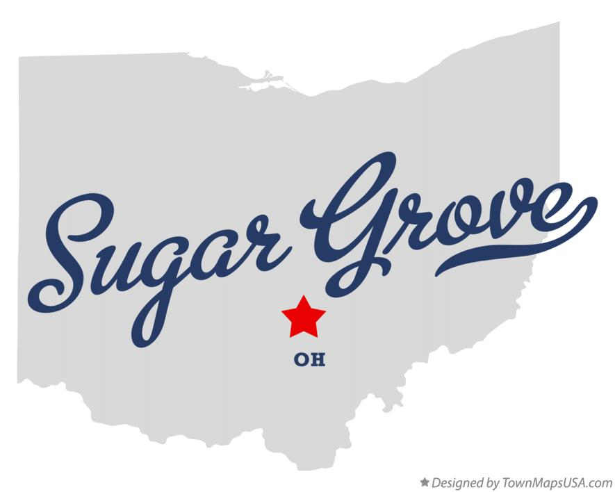 Map of Sugar Grove Ohio OH