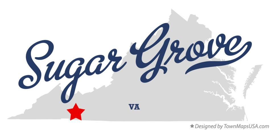 Map of Sugar Grove Virginia VA
