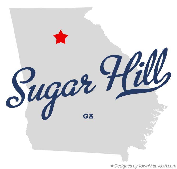 Map of Sugar Hill Georgia GA
