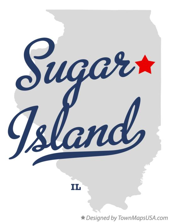 Map of Sugar Island Illinois IL