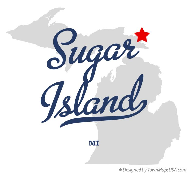sugar island michigan map Map Of Sugar Island Mi Michigan
