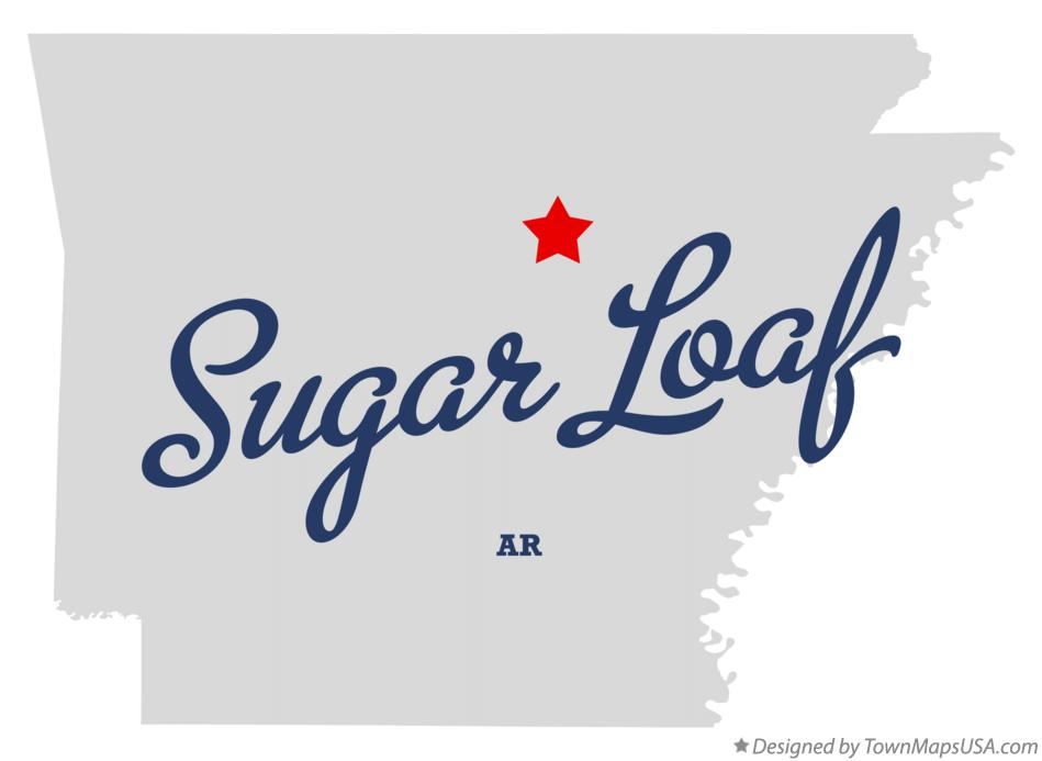 Map of Sugar Loaf Arkansas AR