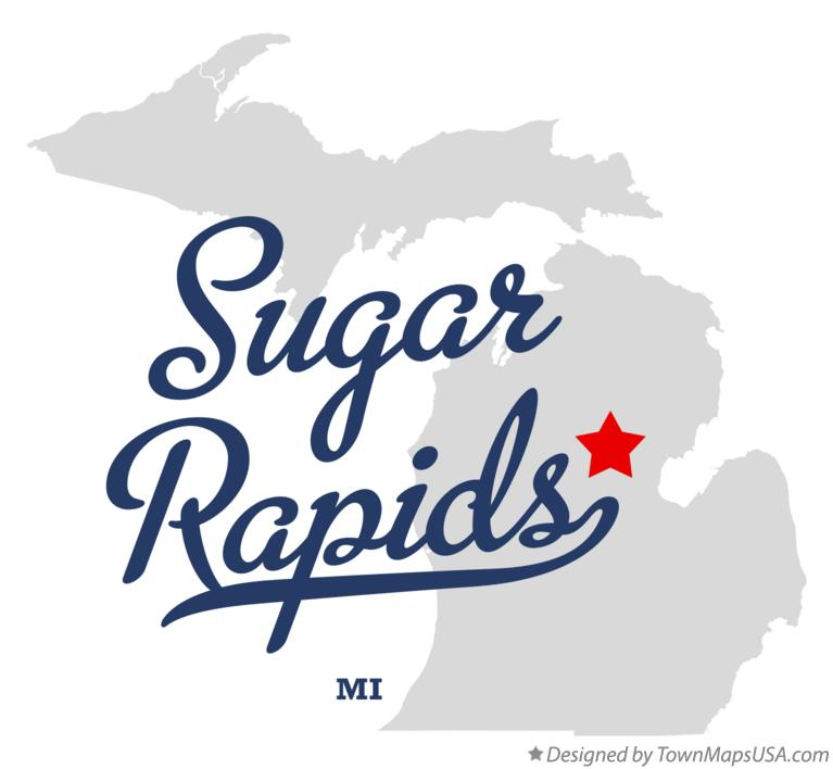 Map of Sugar Rapids Michigan MI
