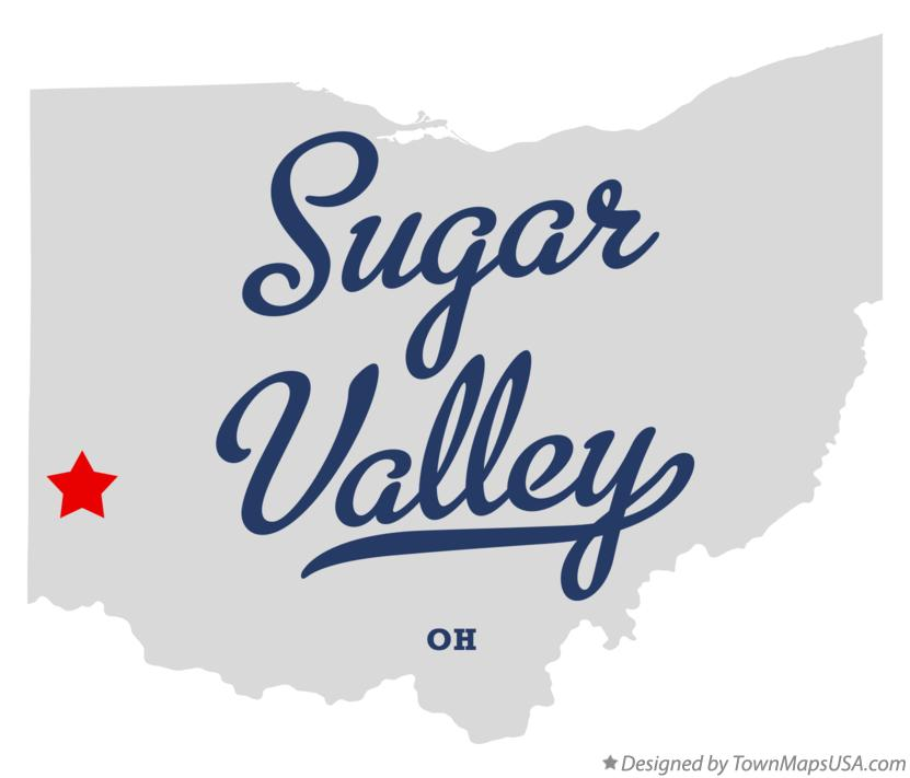 Map of Sugar Valley Ohio OH