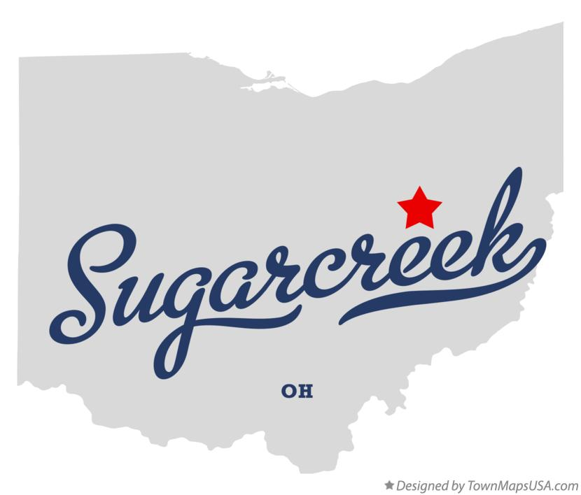 Map of Sugarcreek Ohio OH