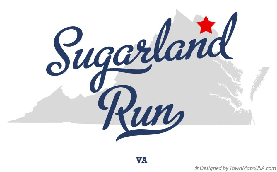 Map of Sugarland Run Virginia VA