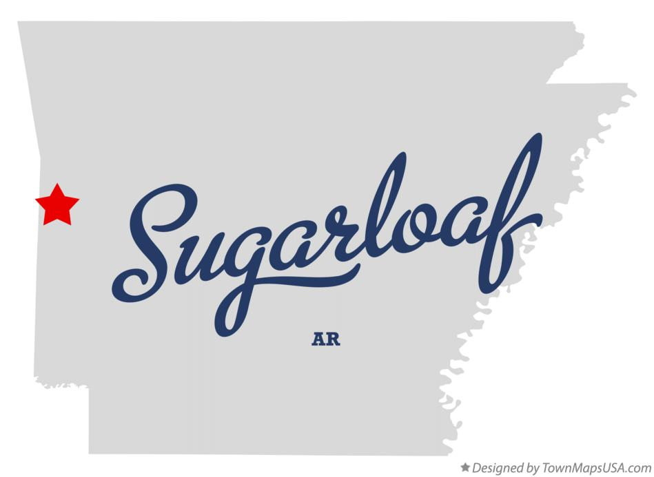 Map of Sugarloaf Arkansas AR