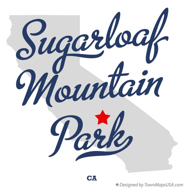 Map of Sugarloaf Mountain Park California CA