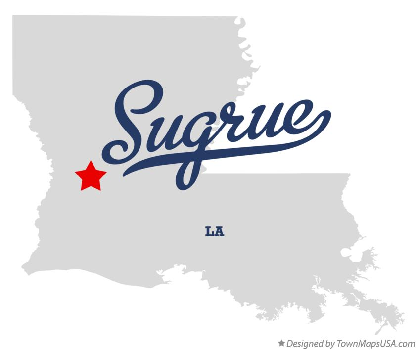 Map of Sugrue Louisiana LA