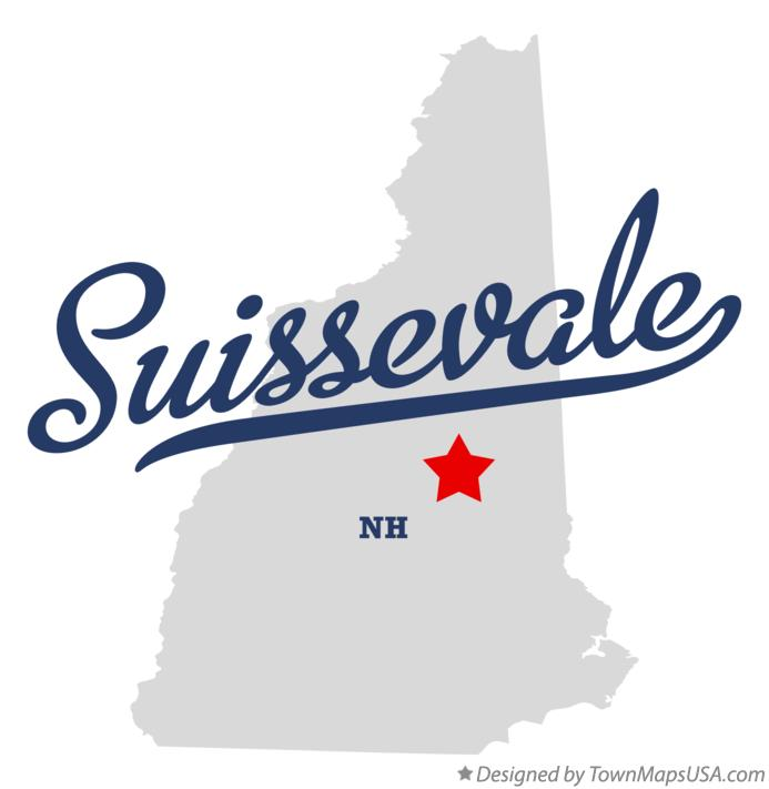 Map of Suissevale New Hampshire NH