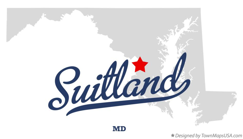 Map of Suitland Maryland MD