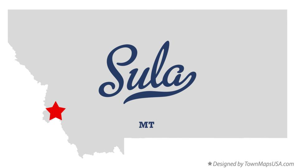 Map of Sula Montana MT