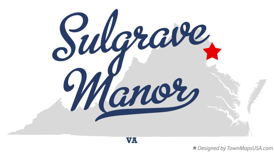 Map of Sulgrave Manor Virginia VA