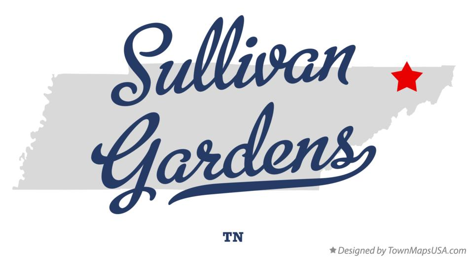 Map of Sullivan Gardens Tennessee TN