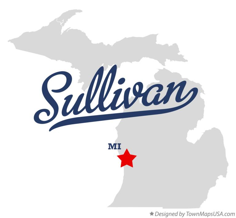 Map of Sullivan Michigan MI
