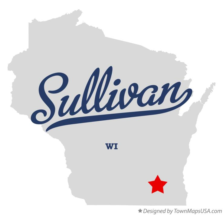 Map of Sullivan Wisconsin WI