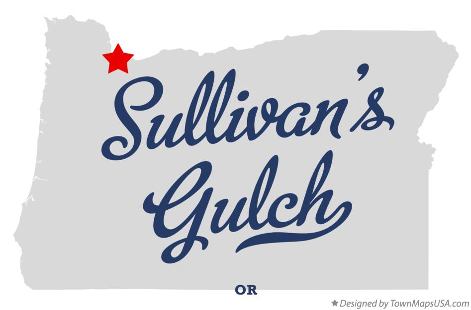 Map of Sullivan's Gulch Oregon OR