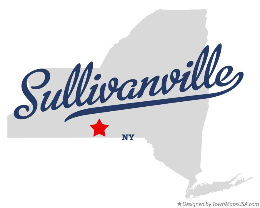 Map of Sullivanville New York NY