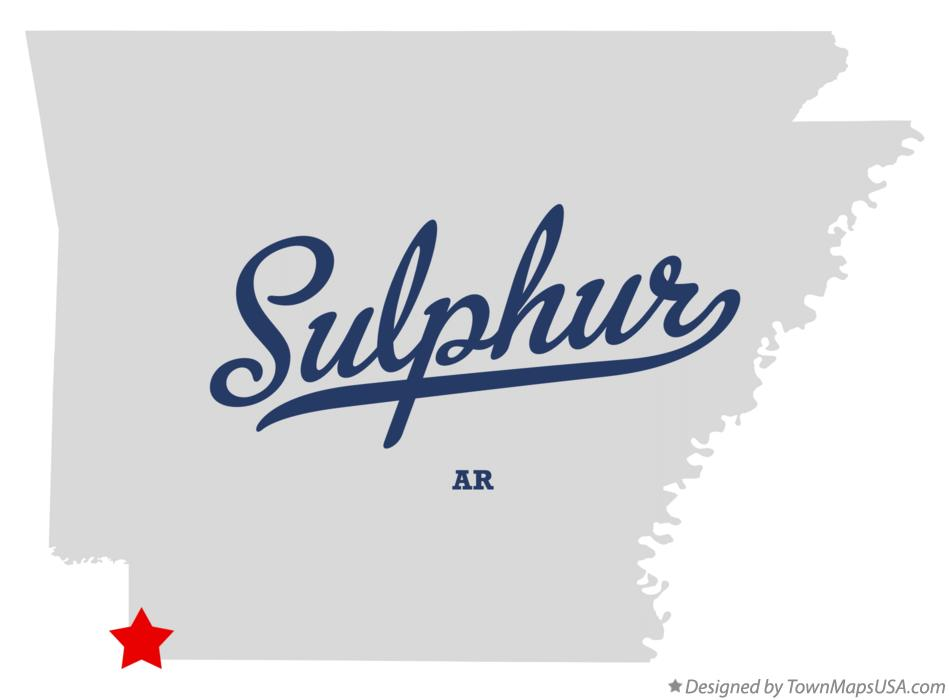 Map of Sulphur Arkansas AR