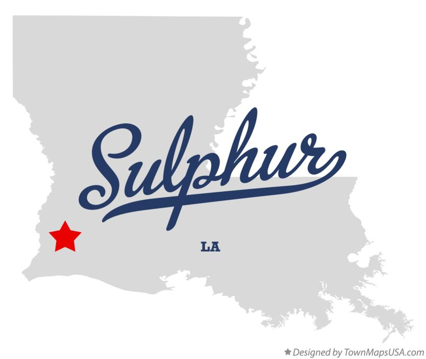 Map of Sulphur Louisiana LA