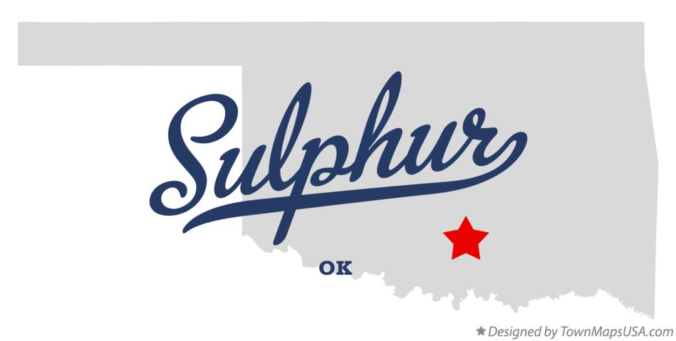 Map of Sulphur Oklahoma OK