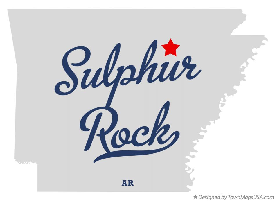 Map of Sulphur Rock Arkansas AR