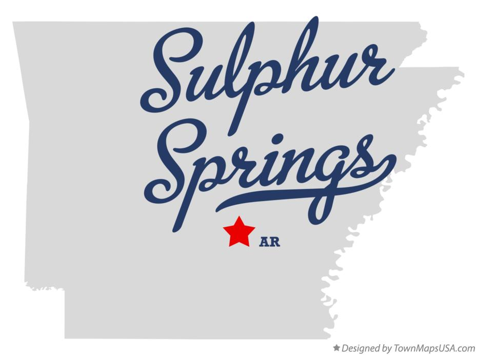 Map of Sulphur Springs Arkansas AR