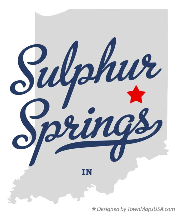Map of Sulphur Springs Indiana IN