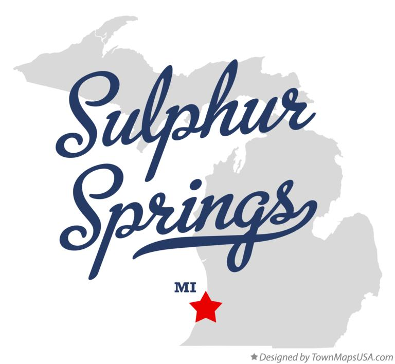 Map of Sulphur Springs Michigan MI