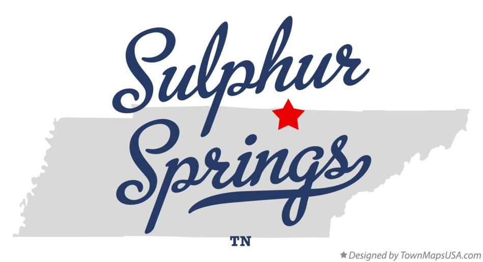 Map of Sulphur Springs Tennessee TN