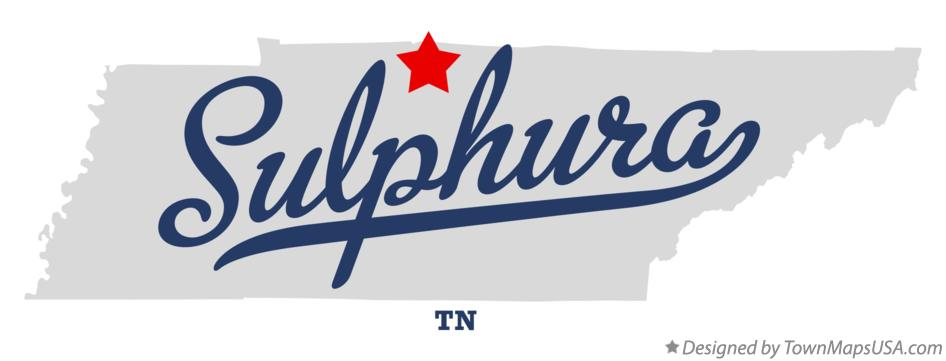Map of Sulphura Tennessee TN
