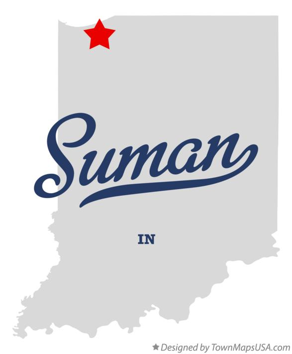 Map of Suman Indiana IN