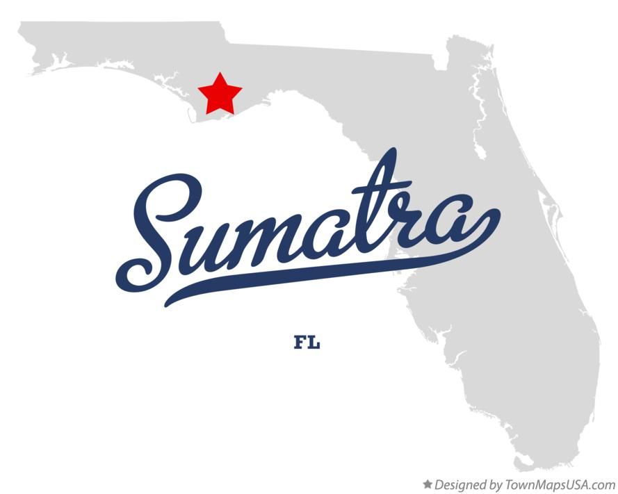 Map of Sumatra Florida FL