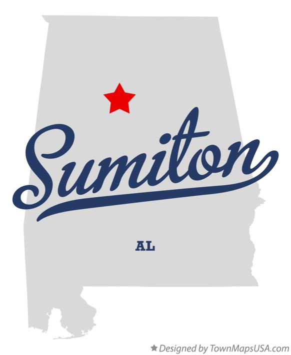 Map of Sumiton Alabama AL