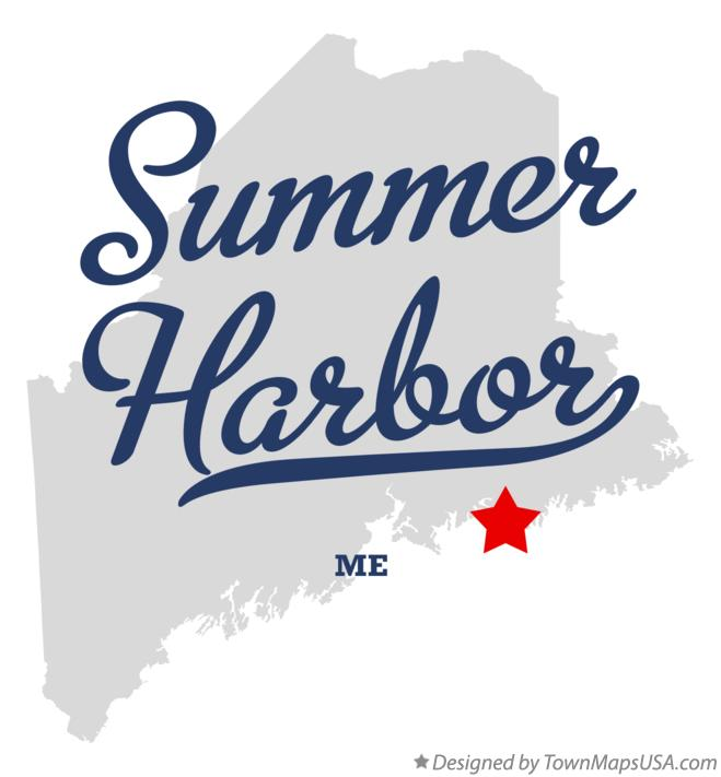 Map of Summer Harbor Maine ME