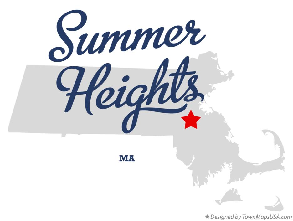 Map of Summer Heights Massachusetts MA