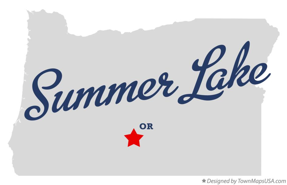 Map of Summer Lake Oregon OR