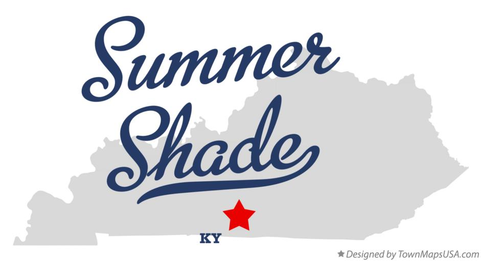 Map of Summer Shade Kentucky KY