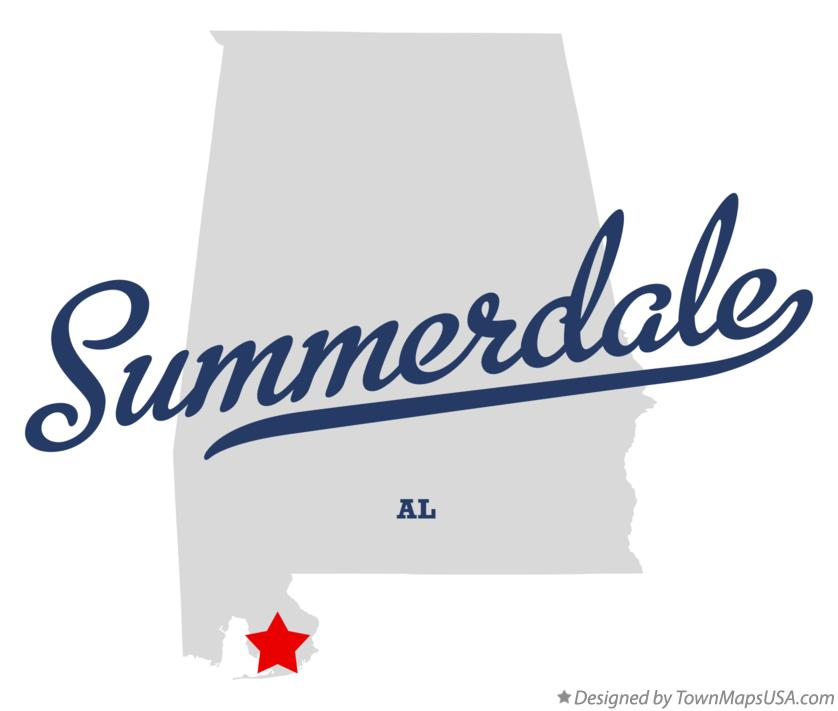 Map of Summerdale Alabama AL