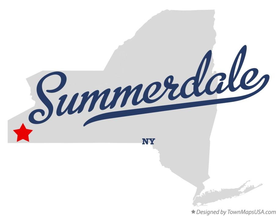 Map of Summerdale New York NY